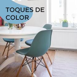 Sillas y Muebles de colores vibrantes