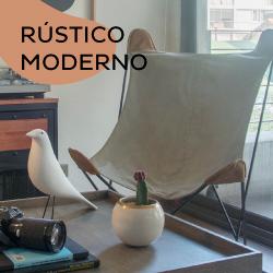 Muebles con acabados rusticos y diseño contemporaneo